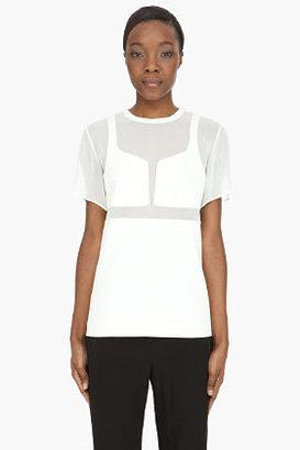 Alexander Wang Ivory Integrated Breast Plate t-shirt