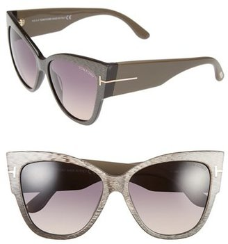 Women's Tom Ford Anoushka 57Mm Gradient Cat Eye Sunglasses - Dove Grey/ Grey Gradient $445 thestylecure.com