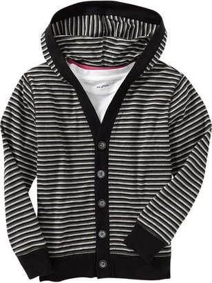 Old Navy Boys Striped-Hooded Cardigans