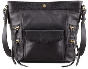 Rebecca Minkoff Dexter Leather Bucket Bag, Black