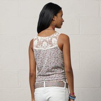 Denim & Supply Ralph Lauren Crocheted-Trim Buttoned Tank