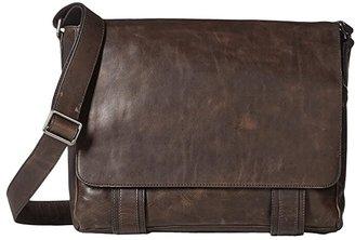 Frye Logan Messenger (Slate Antique Pull Up) Messenger Bags