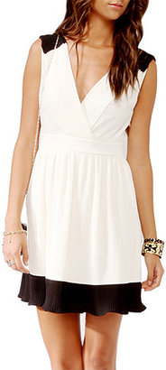 Forever 21 Pleated Surplice Dress