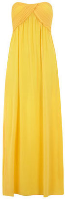 Dorothy Perkins Alice & You Yellow ruche bandeau maxi