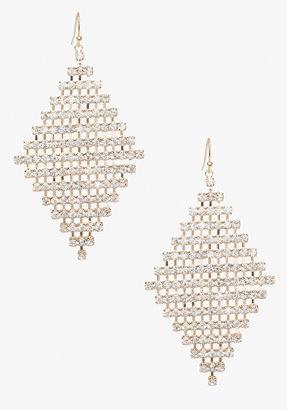 Bebe Diamond Shape Crystal Earrings