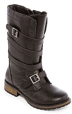 Stevies JRaszcal Girls Buckle Accent Boots
