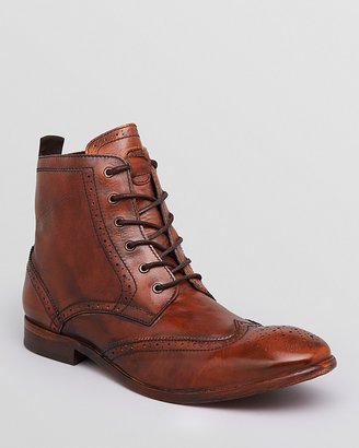 H By Hudson Angus Leather Wingtip Boots