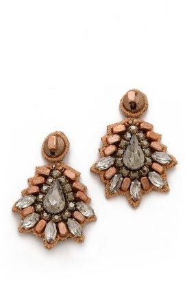 Deepa Gurnani Bold Crystal Earrings