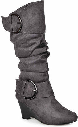8c2de85e647 Journee Collection Irene Wedge Slouch Boots - Wide Calf