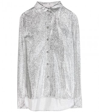 Stella McCartney Wilson woven-lamé shirt