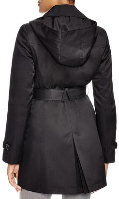 DKNY Megan Double Breasted Trench Coat with Belt