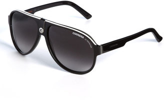 Carrera Striped Aviator Sunglasses