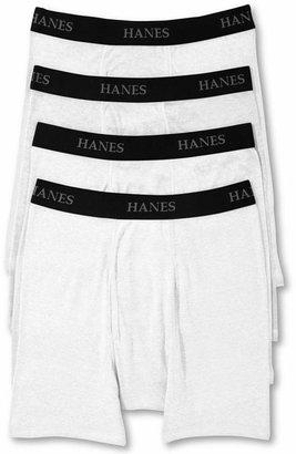 Hanes Platinum - Classic Cotton - 4 Tagless Boxer Briefs
