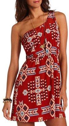 Charlotte Russe One Shoulder Aztec Dress