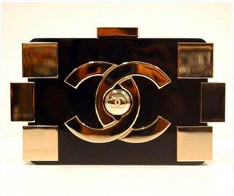 Chanel excellent (EX Black & Gold Lego Bag
