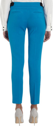 Proenza Schouler Stretch Twill Flat-Front Trousers
