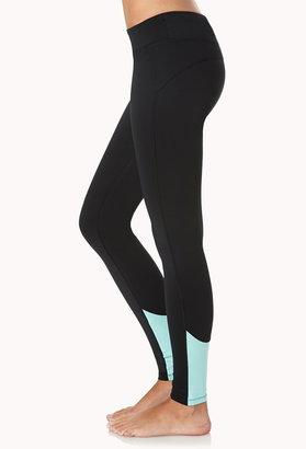 Forever 21 Colorblocked Skinny Workout Leggings