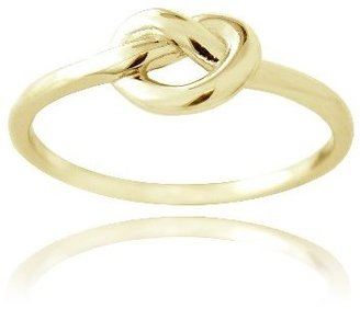 SilverSpeck.com Gold Tone over Sterling Silver Polished Love Knot Ring