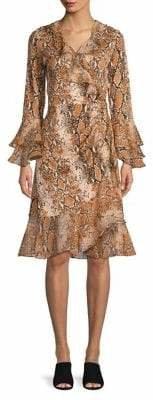 Diane von Furstenberg Silk Wrap Front Dress