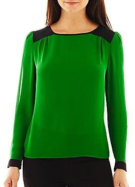 JCPenney Worthington® Colorblock Blouse - Talls