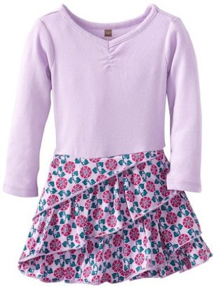 Tea Collection Baby-Girls Infant Long Sleeve Diagonal Ruffle Dress