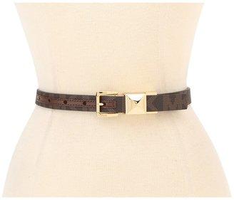 MICHAEL Michael Kors MICHAEL Michael Kor Michael Kor Reverible MK Logo Belt With Pyramid Stud Loop Women' Belt