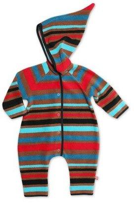 Zutano Infant Baby-Boys Cozie Bold Stripe Black Elf Romper