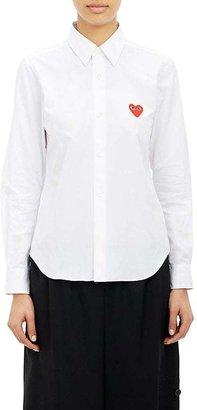 Comme des Garçons PLAY Women's Heart Emblem Shirt $258 thestylecure.com
