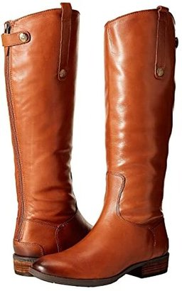 Sam Edelman Penny Leather Riding Boot (Black) Women's Zip Boots