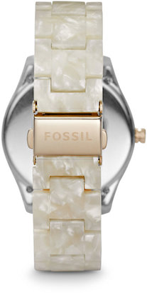 Fossil Stella Multifunction Resin Watch - Pearlized White with Rose