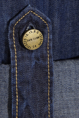 Current/Elliott Cotton-chambray shirt dress