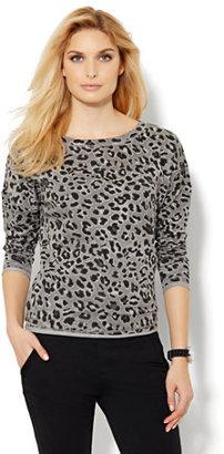 New York & Co. Love, NY&C Collection - Leopard-Print Sweatshirt