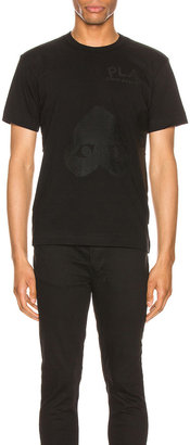 Comme des Garcons Flipped Heart Cotton Tee in Black | FWRD