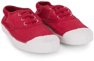 Bensimon Red Cotton Plimsoles