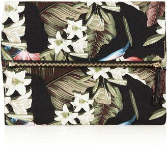 Topshop Floral printed clutch