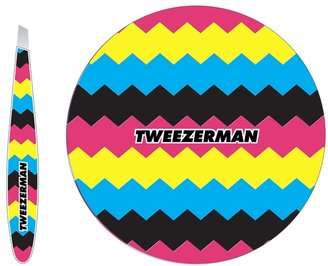 Tweezerman Mini Slant Tweezers & Mirror Duo