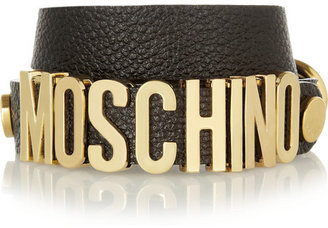 Moschino Textured-leather wrap bracelet