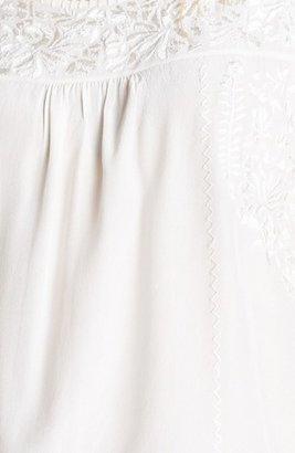 Joie 'Alexei' Embroidered Silk Top