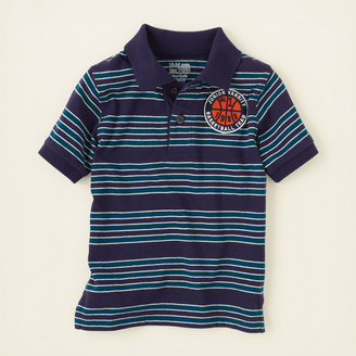 Children's Place Striped patch polo