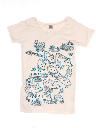 Feral Childe Pigs Tee Women's Ivory