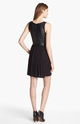 Bailey 44 B44 Dressed by Faux Leather Fit & Flare Dress