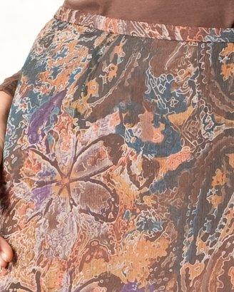 Coldwater Creek Textured paisley skirt