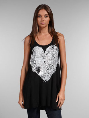 Lauren Moshi Lace Heart Sleeveless Pocket Dress