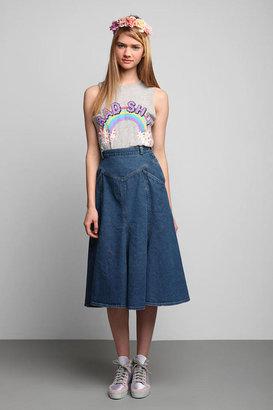 Urban Outfitters Vintage '70s Denim Mermaid Skirt