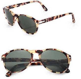 Persol Round Plastic Sunglasses