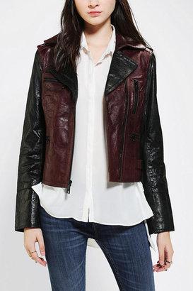Levi's Colorblock Leather Moto Jacket