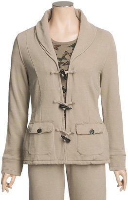 True Grit Cashmere Fleece Toggle Jacket - Butterfly Thermal Knit Lining (For Women)