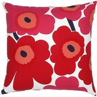 Marimekko Pieni Unikko Red and White Pillow.