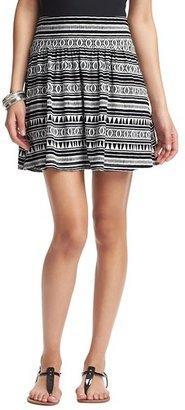 LOFT Canyon Stripe Print Banded Waist Skirt