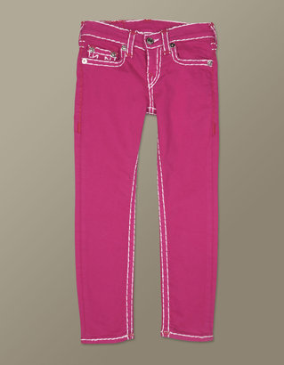 True Religion Girls Stella Contrast Red Super T Skinny Jean